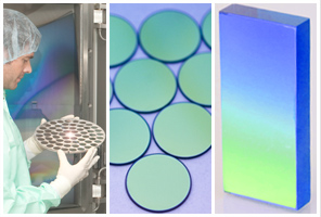 Develops optical filters, thin film coatings and holographic diffraction gratings.